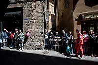 waiting for the roll-out at the race start in Siena<br /> <br /> 104th Giro d'Italia 2021 (2.UWT)<br /> Stage 12 from Siena to Bagno di Romagna (212km)<br /> <br /> ©kramon