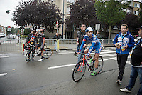After finishing Roy Jans (BEL/Wanty-Groupe Gobert) is uncertain whether he has won the race or not, the difference with Dylan Groenewegen (NLD/Roompot) being too small to know for sure.<br /> <br /> Brussels Cycling Classic 2015