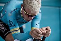 Michaël Valgren Andersen (DEN/Astana) pre race warming up. <br /> <br /> Binckbank Tour 2018 (UCI World Tour)<br /> Stage 2: ITT Venray (NL) 12.7km