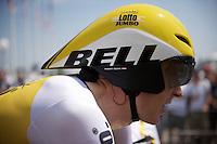 Robert Gesink (NLD/Team LottoNL-Jumbo) ready for the stage 1 prologue Utrecht (13.8km)<br /> <br /> Tour de France 2015