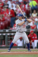 June 18, 2008:  Los Angeles Dodgers third baseman Blake DeWitt (33) at The Great American Ballpark in Cincinnati, OH.  Photo by:  Chris Proctor/Four Seam Images