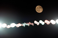 SAN JOSE, CA - OCTOBER 03: The moon during a game between Los Angeles Galaxy and San Jose Earthquakes at Earthquakes Stadium on October 03, 2020 in San Jose, California.