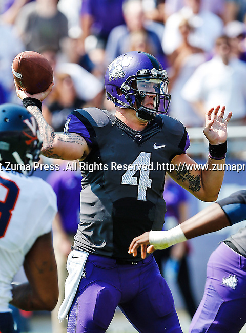TCU Horned Frogs quarterback Casey Pachall (4) in action during the game between the Virginia Cavaliers and the TCU Horned Frogs  at the Amon G. Carter Stadium in Fort Worth, Texas. TCU defeats Virginia 27 to 7...