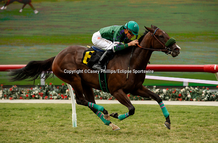 VieDEL MAR, CA  JULY 31: #6 Double Whopper with Kent Desormeaux easily win their race on July 31, 2021 at Del Mar Thoroughbred Club in Del Mar, CA. (Photo by Casey Phillips/Eclipse lSportswire/CSM)