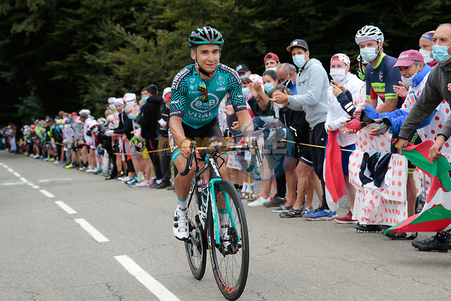 Bryan Coquard (FRA) B&B Hotels-Vital Concept climbs Col de Marie Blanque during Stage 9 of Tour de France 2020, running 153km from Pau to Laruns, France. 6th September 2020. <br /> Picture: Colin Flockton | Cyclefile<br /> All photos usage must carry mandatory copyright credit (© Cyclefile | Colin Flockton)