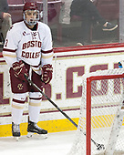 Luke McInnis (BC - 3) - The visiting Merrimack College Warriors defeated the Boston College Eagles 6 - 3 (EN) on Friday, February 10, 2017, at Kelley Rink in Conte Forum in Chestnut Hill, Massachusetts.