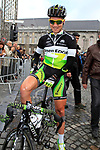 Christian Meier (CAN) GreenEdge Cycling Team at sign on before the start of the 98th edition of Liege-Bastogne-Liege outside the Palais des Princes-Eveques, running 257.5km from Liege to Ans, Belgium. 22nd April 2012.  <br /> (Photo by Eoin Clarke/NEWSFILE).