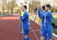 FC Knokke - OMS Ingelmunster : spelers van Knokke bedanken het publiek<br /> Foto VDB / Bart Vandenbroucke