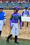 HOT SPRINGS, AR - MARCH 17: Jockey Luis Saez .Rebel Stakes at Oaklawn Park on March 17, 2018 in Hot Springs, Arkansas. (Photo by Ted McClenning/Eclipse Sportswire/Getty Images)