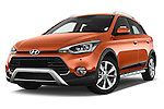 Stock pictures of low aggressive front three quarter view of 2016 Hyundai i20 ACTIVE Pop 5 Door Hatchback Low Aggressive