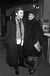 HELMUT BERGER  CON MARINA RIPA DI MEANA<br /> ADRIANA ASTI - PRIMA AL TEATRO ELISEO ROMA 12/1980