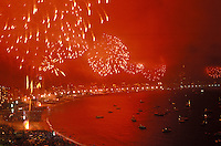 The Ano Novo ('New Year' in Portuguese) celebration is one of Brazil's main holidays, and officially marks the beginning of the summer holidays, that usually end by Carnival (analogous to Memorial Day and Labor Day in the United States). The beach at Copacabana in Rio de Janeiro is regarded as the location of one of the best fireworks displays in the world at New Year.
