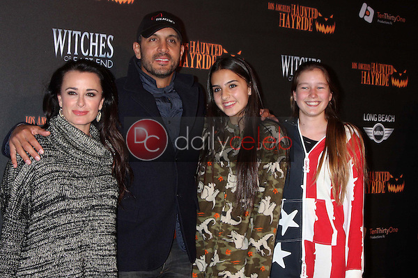 Kyle Richards and family<br /> at the 8th Annual LA Haunted Hayride Premiere Night, Griffith Park, Los Angeles, CA 10-10-13<br /> David Edwards/DailyCeleb.Com 818-249-4998
