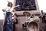 ELO 1973 Electric Light Orchestra film US TV show in London's Trafalgar Square<br /> © Chris Walter