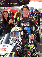 James Ellison of McAMS Yamaha on the grid for race two of the MCE British Superbikes in Association with Pirelli round 12 2017 - BRANDS HATCH (GP) at Brands Hatch, Longfield, England on 15 October 2017. Photo by Alan  Stanford / PRiME Media Images.