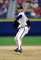 CIRCA 1997: Greg Maddux #31 of the Atlanta Braves pitching during a game from his 1997 season with the Atlanta Braves. Greg Maddux played for 23 years with 4 different teams, was a 8-time All-Star, a 4-time Cy Young award winner and was inducted to the Baseball Hall of Fame in 2014.(Photo by: 1997 SportPics)  *** Local Caption *** Greg Maddux