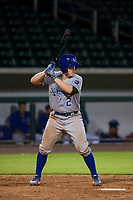 AZL Royals catcher Josh Lovelady (2) at bat against the AZL Cubs on July 19, 2017 at Sloan Park in Mesa, Arizona. AZL Cubs defeated the AZL Royals 5-4. (Zachary Lucy/Four Seam Images)