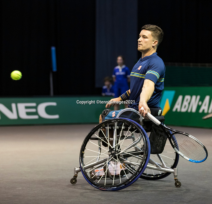 Rotterdam, The Netherlands, 6 march  2021, ABNAMRO World Tennis Tournament, Ahoy,  <br /> Semi final wheelchair: Alfie Hewett (GBR) / Gordon Reid (GBR). Photo: www.tennisimages.com/