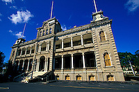 Iolani Palace in Honolulu on the Island of Oahu