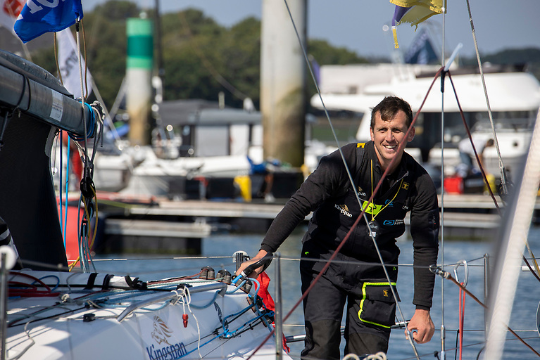 Ireland's Tom Dolan finished 10th into Lorient this morning concluding the first stage of La Solitaire du Figaro with a result which matches his 10th place in 2020 when he finished fifth overall at the end of the three stages. The skipper of Smurfit Kappa- Kingspan was 17th in the 34 boat fleet when they rounded the La Coruna buoy, the midpoint of the 627 miles course but made good gains with excellent upwind boat speed.