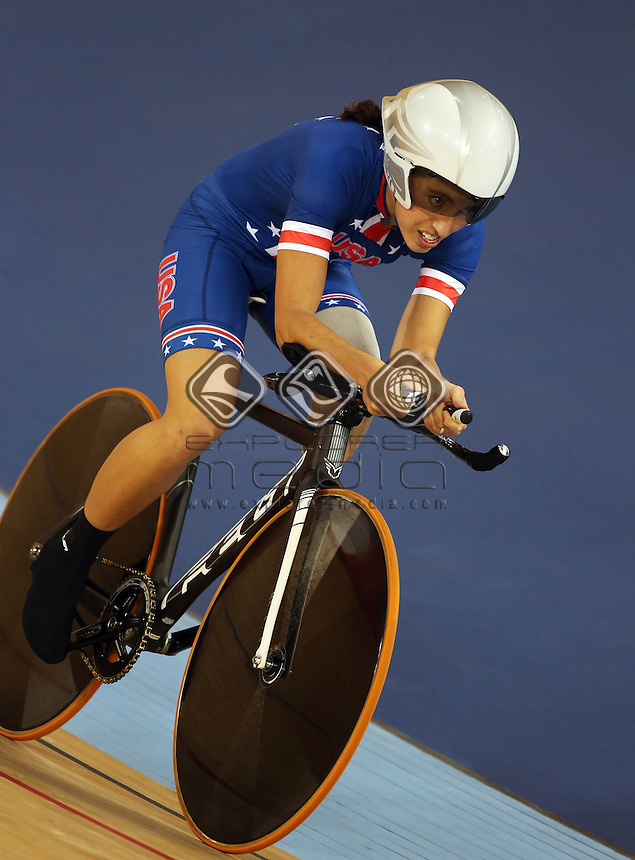Megan Fisher (USA) competes in the Women's C4 Individual Pursuit.<br /> Track Cycling, Velodrome, Olympic Park (Thursday 29th Aug)<br /> Paralympics - Summer / London 2012<br /> London England 29 Aug - 9 Sept <br /> © Sport the library/Joseph Johnson