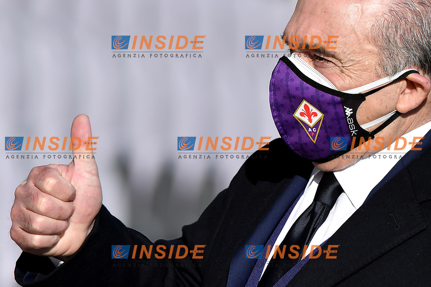 Fiorentina president Rocco Commisso reacts prior to the Italy Cup round of 16 football match between ACF Fiorentina and FC Internazionale at Artemio Franchi stadium in Firenze (Italy), January 13th, 2021. Photo Andrea Staccioli / Insidefoto
