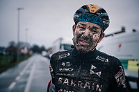 roadie Heinrich Haussler (AUS/Bahrein-McLaren) post-race<br /> <br /> UCI cyclo-cross World Cup Dendermonde 2020 (BEL)<br /> <br /> ©kramon