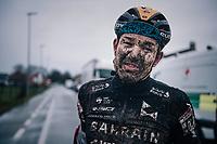 roadie Heinrich Haussler (AUS/Bahrein-McLaren) post-race<br /> <br /> UCI cyclo-cross World Cup Dendermonde 2020 (BEL)<br /> <br /> ©kramon