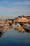 View of Port Guillaume, Dives-sur-Mer, Normandy, France