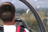 Segelflug, Cockpit, schlechte Sicht, Spiegelungen, Sicht des Fluglehrers