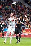 Spain Sergio Ramos and Argentina Gabriel Mercado during friendly match between Spain and Argentina at Wanda Metropolitano in Madrid , Spain. March 27, 2018. (ALTERPHOTOS/Borja B.Hojas)