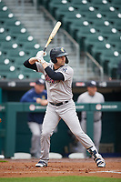 Scranton/Wilkes-Barre RailRiders Ryan McBroom (6) at bat during an International League game against the Buffalo Bisons on June 5, 2019 at Sahlen Field in Buffalo, New York.  Scranton defeated Buffalo 3-0, the first game of a doubleheader.  (Mike Janes/Four Seam Images)