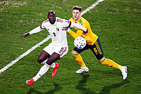 24th March 2021; Leuven, Belgium;   Romelu Lukaku of Belgium and Joe Rodon  of Wales during the World Cup Qatar 2022 Qualifiers Match between Belgium and Wales on March 24, 2021 in Leuven, Belgium