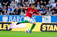 Tuesday, 7 May 2013<br /> <br /> Pictured: Pablo Hernandez of Swansea City<br /> <br /> Re: Barclays Premier League Wigan Athletic v Swansea City FC  at the DW Stadium, Wigan