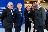 European Ceremony of Honour for Dr. Helmut KOHL, Former Chancellor of the Federal Republic of Germany and Honorary Citizen of Europe (1930 - 2017) at the European Parliament in Strasbourg<br /> - Guests arrival # CEREMONIE D'HOMMAGE A HELMUT KOHL AU PARLEMENT EUROPEEN