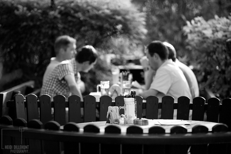 Table at an outdoor diner, Nürnberg, Germany