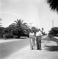 Portraits de famille quebecoise en voyage en floride au Etats-Unis  vers 1950 (date exacte inconnue)