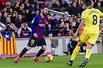 Lionel Messi of FC Barcelona (L) in action during the La Liga 2018-19 match between FC Barcelona and Villarreal at Camp Nou on 02 December 2018 in Barcelona, Spain. Photo by Vicens Gimenez / Power Sport Images