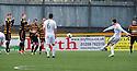 Raith Rovers' Callum Booth scores their goal.