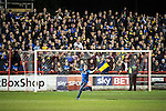© Joel Goodman - 07973 332324 . 18/05/2016 . Accrington , UK . Wimbledon pitch invader during extra time . Accrington Stanley take on AFC Wimbledon at the Wham Stadium , in the 2nd leg of their League Two tie , the result from which will decide which team goes on to the final at Wembley . Photo credit : Joel Goodman