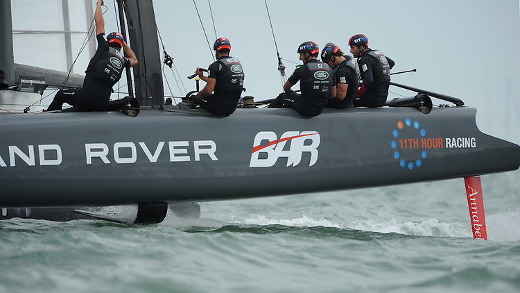 Land Rover BAR, JULY 24, 2016 - Sailing: Sir Ben Ainslie (GBR) Land Rover BAR team principal and skipper helmed the home boat to one win and two second places to win the regatta during day two of the Louis Vuitton America's Cup World Series racing, Portsmouth, United Kingdom. (Photo by Rob Munro/Stewart Communications)