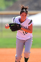 Slippery Rock pitcher Lindsey Grace #16 during a game against Lees-McRae College at Oren Brown Field on March 7, 2011 in Kissimmee, Florida.  Slippery Rock defeated Lees-McRae 9-6.  (Mike Janes/Four Seam Images)