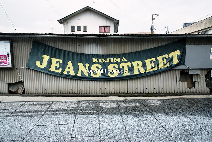 MAY 15, 2014 - KOJIMA, KURASHIKI, JAPAN:  Jeans Street.  (Photograph / Ko Sasaki)