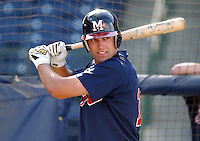 18 April 2005: Outfielder Jeff Francoeur of the Mississippi Braves, Class AA affiliate of the Atlanta Braves, taken at Trustmark Park in Pearl, Miss.  (Tom Priddy/Four Seam Images)