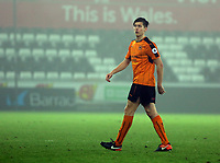 Pictured: Connor Johnson of Wolverhampton Wanderers walks off the pitch after being shown a red card Monday 13 March 2017<br /> Re: Premier League 2, Swansea City U23 v Wolverhampton Wanderers FC at the Liberty Stadium, Swansea, UK