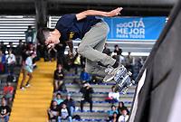 BOGOTA - COLOMBIA - 13 - 08 - 2017: Santiago Echavarria, Skater de Colombia, durante competencia en el Primer Campeonato Panamericano de Skateboarding, que se realiza en el Palacio de los Deportes en la Ciudad de Bogota. / Santiago Echavarria, Skater from Colombia, during a competitions in the First Pan American Championship of Skateboarding, that takes place in the Palace of Sports in the City of Bogota. Photo: VizzorImage / Luis Ramirez / Staff.
