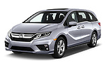 2020 Honda Odyssey EX-L 5 Door Minivan Angular Front automotive stock photos of front three quarter view