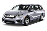 2020 Honda Odyssey EX-L 5 Door Minivan Angular Front automotive stock photos of front three quarter view