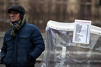 The price list of a London Rickshaw based around Big Ben in Westminster as Beast from the East weather continues at City of London, London, England on 1 March 2018. Photo by Andy Rowland.