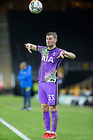 22nd September 2021; Molineux Stadium, Wolverhampton,  West Midlands, England; EFL Cup football, Wolverhampton Wanderers versus Tottenham Hotspur; Ben Davies of Tottenham Hotspur throwing the ball in to play from the side line